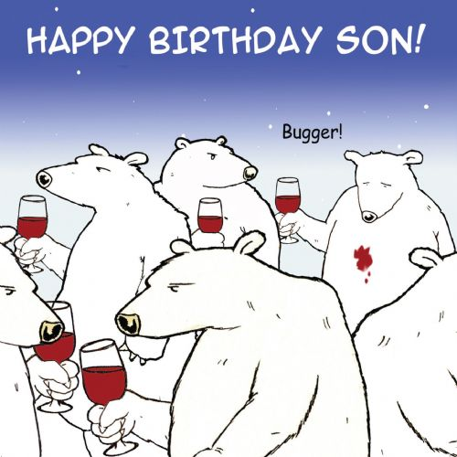 TW467 - Funny Son Birthday Card